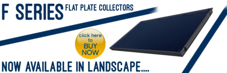 F Series Landscape flat plate collector
