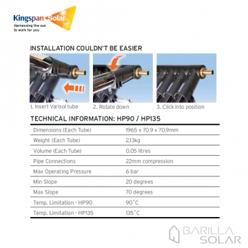Kingspan Varisol Hp Collector Wholesale Solar Thermal